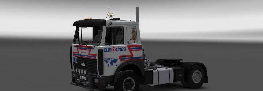 MAZ 6303 Eurolines skin v1