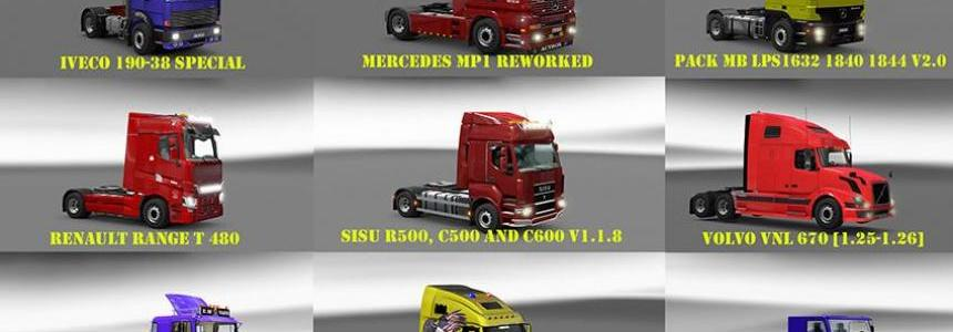 Pack 7 compt. Trucks of Powerful Engines Pack + Transmissions v9.0