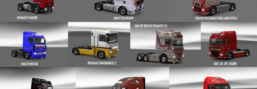 Pack 8 compt. Trucks of Powerful Engines Pack + Transmissions v10