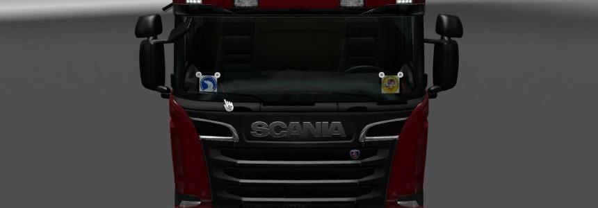 Plates for Scania RJL v1.0