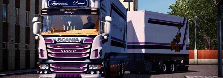 SCANIA R500 TIJSTERMAN Truck + TRAILER + SOUNDS