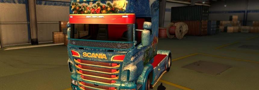 Scania R&S Topline Christmas style 1.26