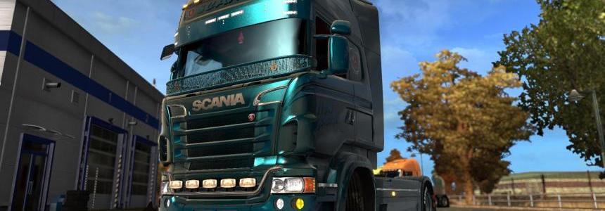 Scania R&S Topline  Custom metallic skin 1.26