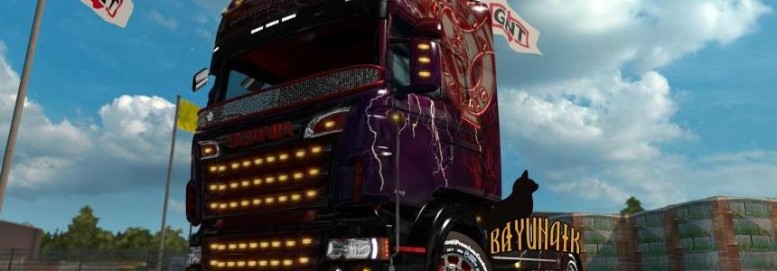Scania R&S Topline Demon of road skin 1.26
