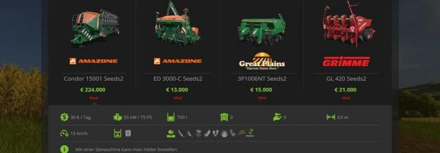 Seeders for dressed seeds v1.0.0.0