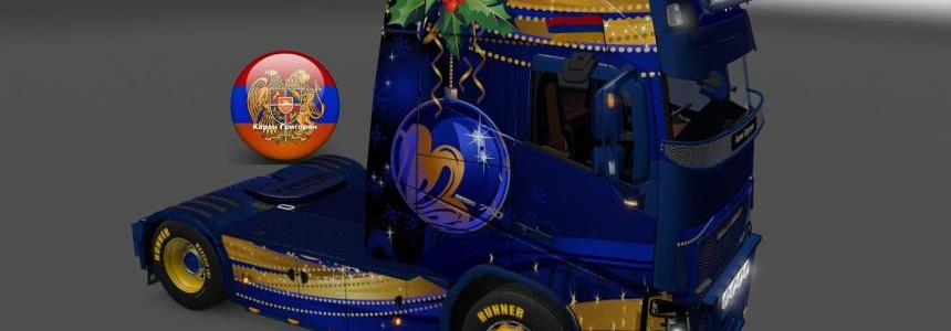 Skin Pack New Year 2017 for Iveco Hiway and Volvo 2012 - 2013