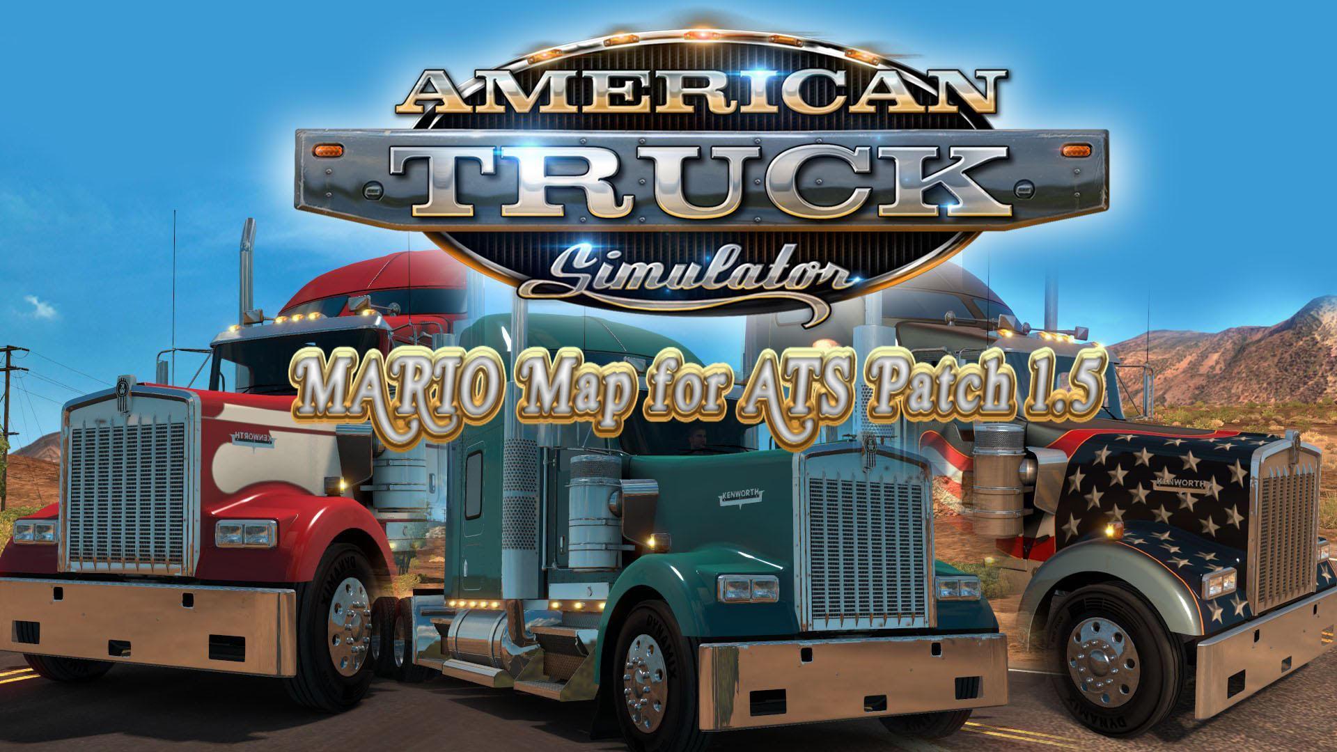 Mario ATS Map v1 5 2 for v1 5 » Download Simulator Mods | ETS2 | ATS