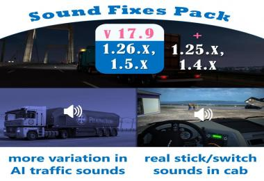 Sound Fixes Pack v17.9 for ATS
