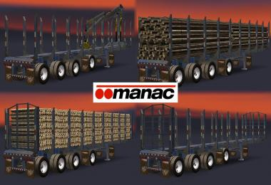 AMERICAN MANAC 4 AXIS LOG TRANSPORTER TRAILER 1.5.x