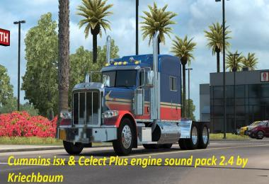 Cummins iSX and Celect PLUS sound pack v2.4