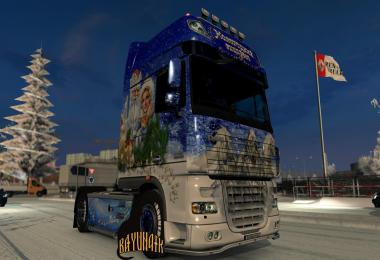 DAF XF 105 50k New Year's express skin 1.26