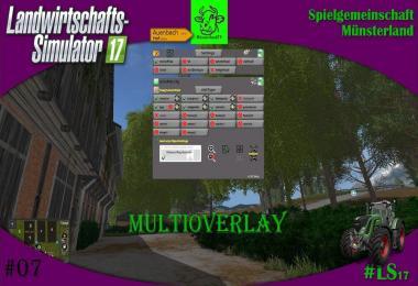 Multi Overlay Hud LS17 Convert v2.84 Beta