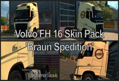 Volvo FH16 SkinPack Braun Spedition v1
