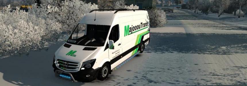 Mercedes Sprinter Long 2014 – MajooouTrans Skin 1.26