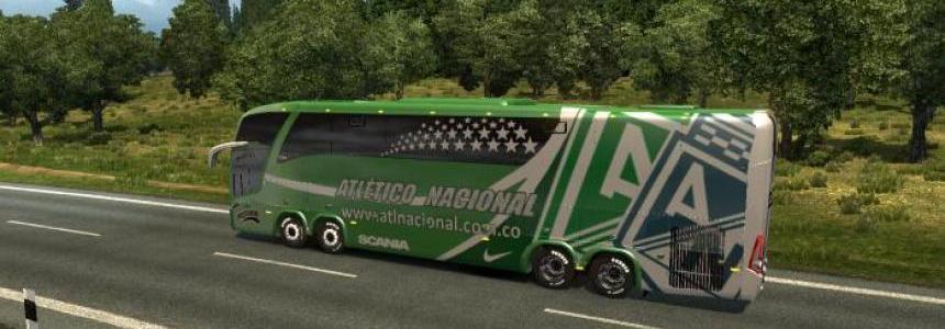 Bus Marcopolo G7 1600LD Atletico Nacional Skin v1.26