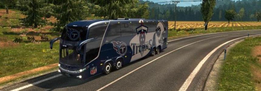 Bus Marcopolo G7 1600LD Tenneessee Titans Skin v1.26
