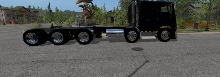 Freightliner overcab Road train heavy hauler v1.0