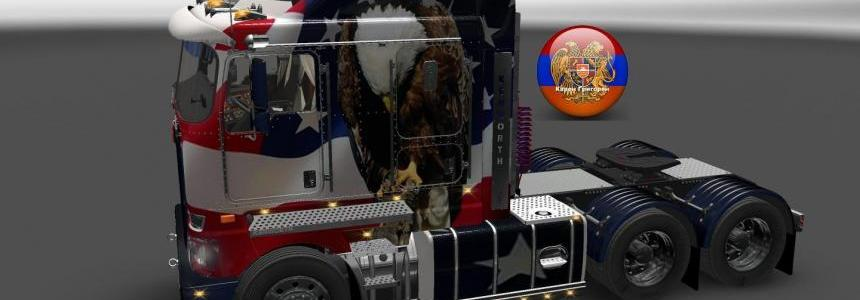 Kenworth K200 Metallic USA Style Skin 1.26.4.3s