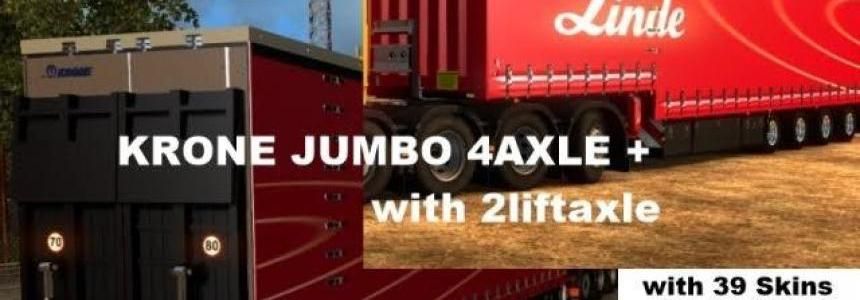 Krone Jumbo Curtainside 4 Axel Version v9.0