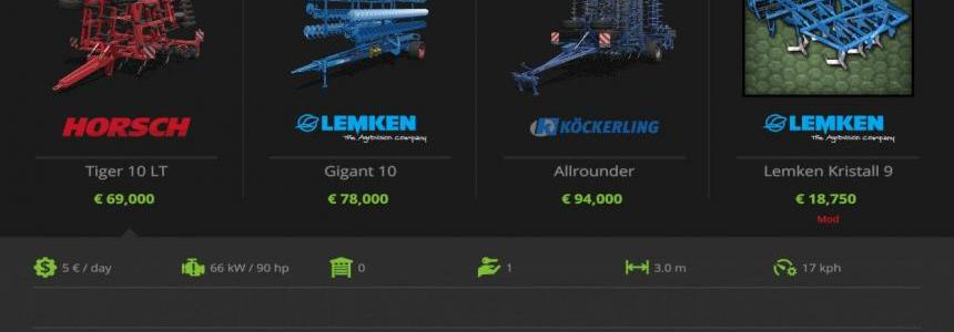 Lemken Kristal 9 and Juwel 8 v1.0