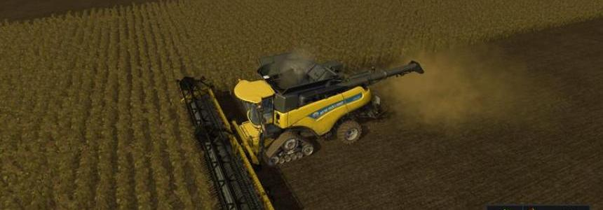 New Holland 45ft with sunflowers v1.0