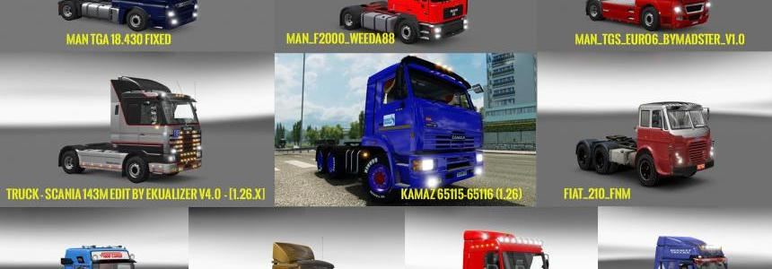 Trucks compatible of Powerful Engines Pack v10.2