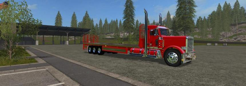 Peterbilt 388 Flatbed Custom Daycab v1