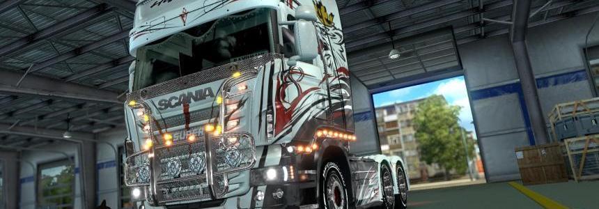 Scania R Topline V8 skin 1.26