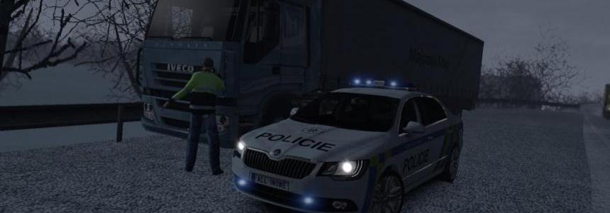 Skoda Superb Policie CR skin 1.26