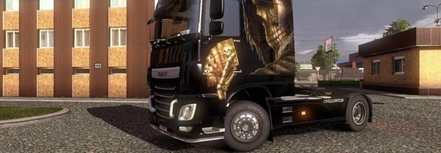 Skull DAF XF EURO 6 Skin