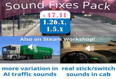 Sound Fixes Pack v17.11 for ATS
