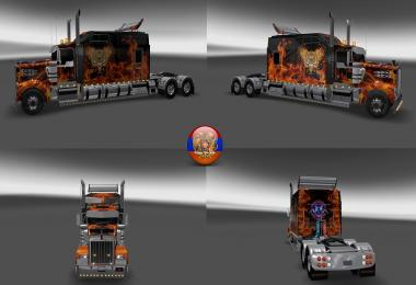 Kenworth W900 Long Metallic Long Style 3 4 5 Style Skins