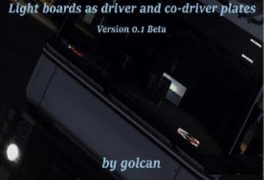 Light Boards as driver/codriver plates v0.1 BETA