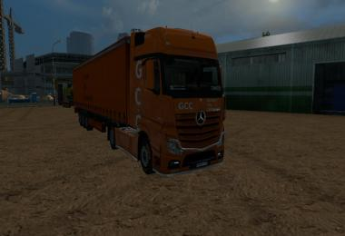 Mercedes Benz MP4 GCC LKW + Trailer v1.0