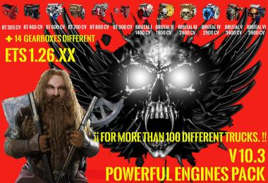 Pack Powerful Engines + Gearboxes v10.3 for 1.26.x