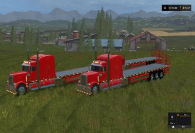 Peterbilt 388 Flatbed Custom v2 With Trailer