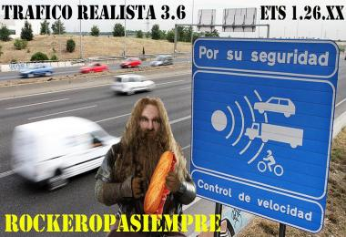 Realistic traffic V3.6 by Rockeropasiempre for 1.26.x