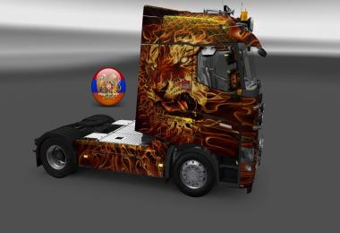 Renault T Fire Tiger Skin 1.26.3.4s