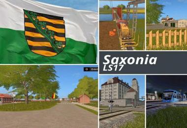 Saxony for Farming simulator 17 v1.1