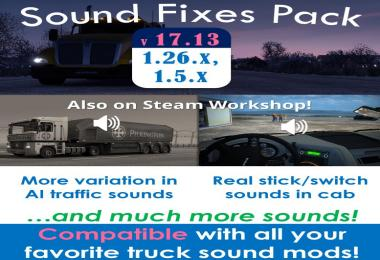 Sound Fixes Pack v17.13 for ATS