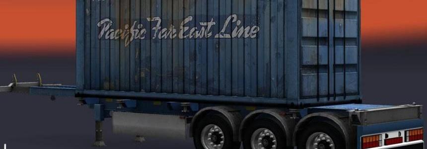 Trailer Container Pacific Far East Line