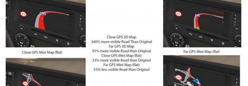 GPS Zoom Level Mod Version 2 ETS2 1.26x