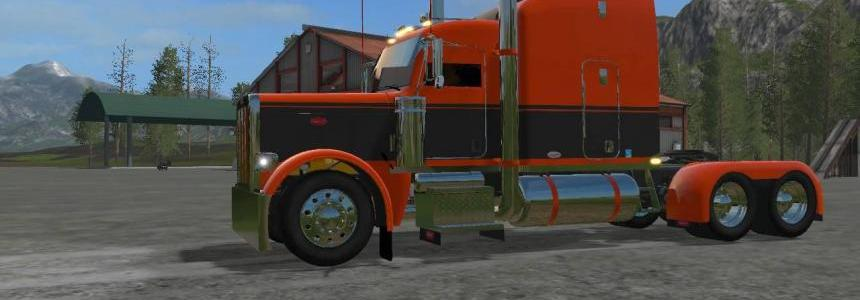 Orange and Black Peterbilt 388 Custom v1.0