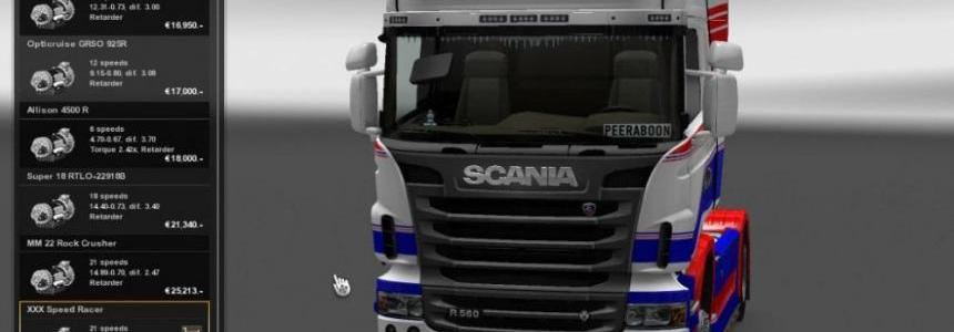 Scania 10000hp and transmission 1.26.x
