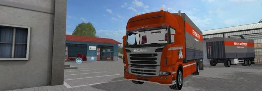 Scania R730 with tarpaulin in Fehrenkotter Skin V1