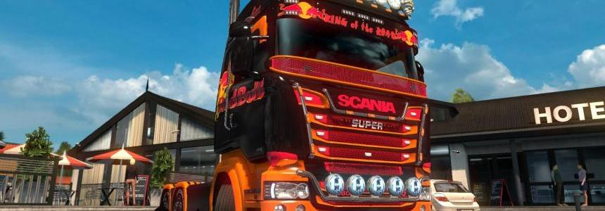 Scania R&S Highline Red Bull skin 1.26