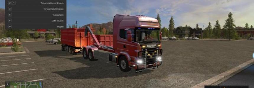 SCANIA V8 HKL with rail Trailer v1.0