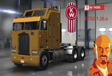 Kenworth K100 (ETS2 Version) 1.26.x