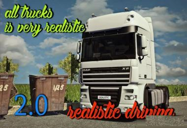 Realistic driving and physics for all trucks v2.0