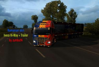 Romanian Skin Iveco Hi-Way + Trailer 1.26